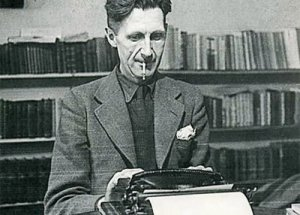 George-Orwell-at-typewriter-Orwell-Prize-website