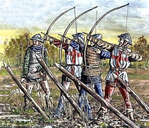 Illustration from the Battle of Agincourt - archers / www.camelotintl.com/.../ battles/agincourt.html
