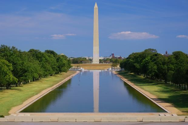 View of Washington Monument without people