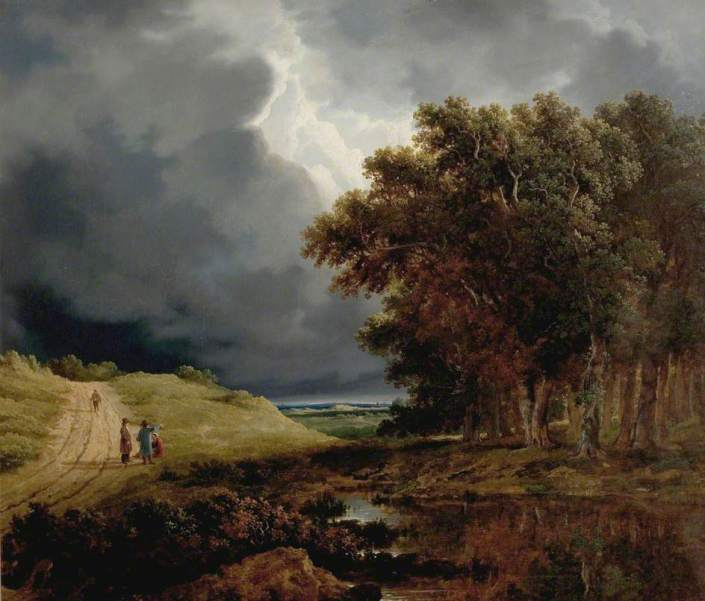 O'Connor, James Arthur, 1792-1841; The Edge of a Forest, Storm Coming On