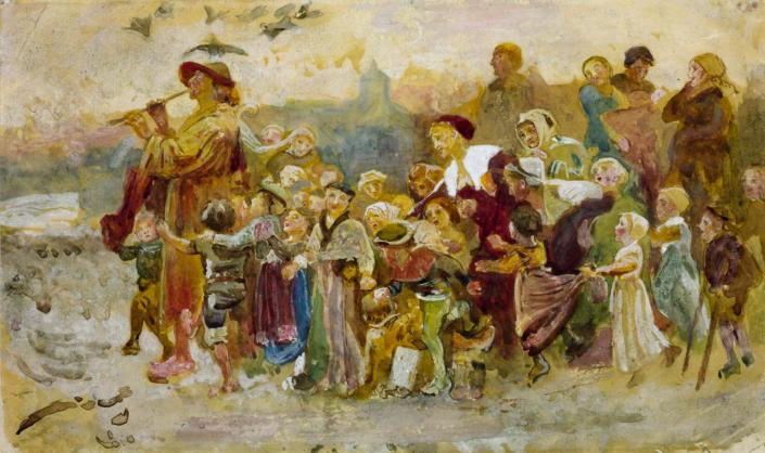 Study for 'The Pied Piper of Hamelin': The Children c.1871 by George John Pinwell 1842-1875